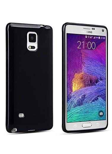 Microsonic Glossy Soft Galaxy Note 4 Kılıf Siyah Renkli